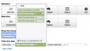 Choosing a filter for a dashboard widget
