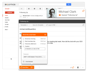 SideKick Gmail Task Reminder Integration with CRM