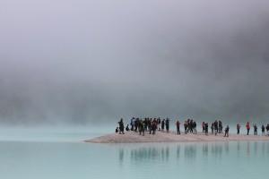 people on an island