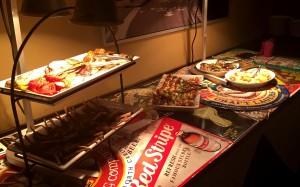 Food at the Client Appreciation Event.