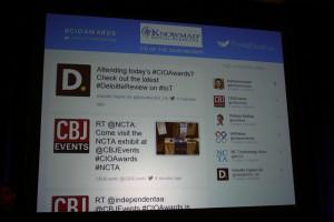 CIO Awards Social Media Wall