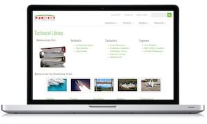 Foam Manufacturer Technical Library Screenshot