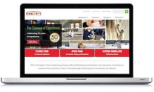 Homepage Foam Manufacturer Screenshot