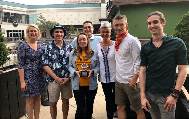 Mallard Creek Polymers and Knowmad Digital Marketing Celebrate ProAds Award