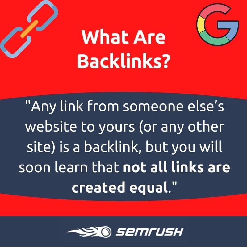 SEMrush backlinks